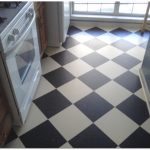 amazing-cool-modern-nice-linoleum-kitchen-floor-and-has-black-and-white-tile-design-for-small-kitchen