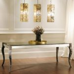 amazing-modern-cool-nice-extra-long-console-table-with-glassy-black-table-design-for-flower-place