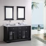 Amazing Nice Cool Awesome Imperial 60 Double Sink Bathroom Vanity Set With Black And Small Mirror