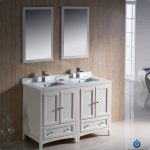 Attractive Cool Awesome Modern Double Sink Vanity With Nice White Concept And Great Mirror Design
