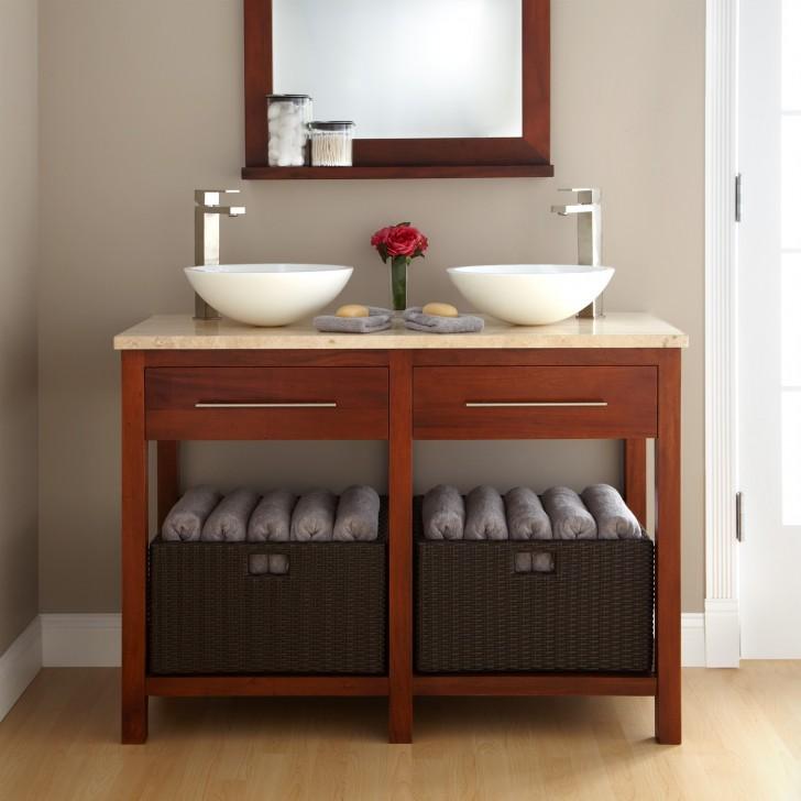 Adorable Concept of Double Sink Bathroom Vanity - HomesFeed