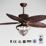 battery operated ceiling fan in metal with crystal light and cool design for home interior