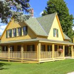 Beautiful Country Home Exterior Design With Wrap Around Porches