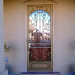 beautiful crafted metal rails for screen door