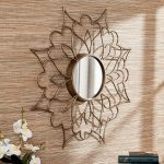 beautiful sheffield home mirrors with golden flower frame plus book and flowers decoration ideas for home