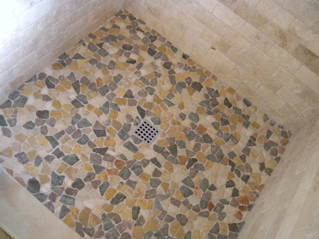 Best C Tile For Shower Floor And Brick Pattern Tiling Wall Beautiful Bathroom Ideas