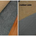 best rug pads for hardwood floors of rubber side and felt side