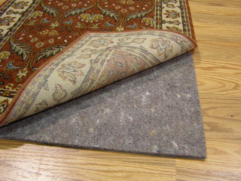 how felt rug pad saves hardwood floor rug pad corner