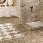Best Tile For Shower Floor In Luxury Bathroom With Glass Wall And Wooden Vanity Units