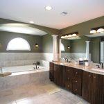 built in bathtub large bathroom vanity with brown marble top plus double square sinks and faucet frameless decorative mirror for vanity beautiful vanity lightings