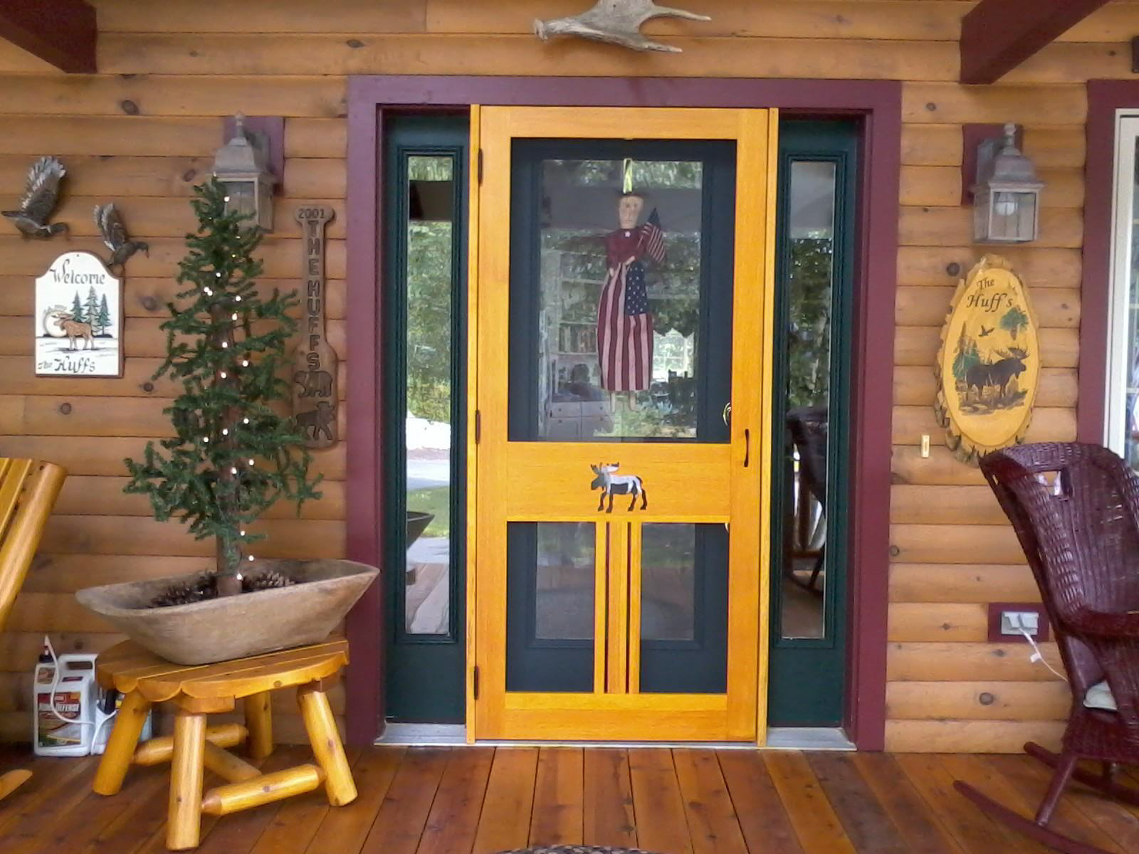 Chic And Fun Colored Screen Door With Transpa Gl Panel On Top Water Insect