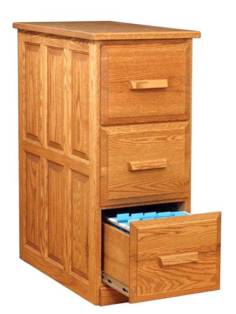 Clic Wood File Cabinet Ikea With Three Drawers And Square Wooden Handle For Home Office