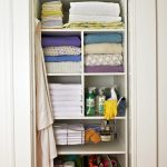 Cool Amazing Nice Awesome Linen Closet Organizer With Wonderful Tiry Arrangement With Crowded Space Inside