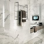 cool-amazing-nice-contemporary-bathroom-with-porcelain-marble-look-and-has-great-wall-design-for-bedroom-decoration-