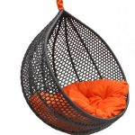 Cozy Black And Orange Chairs That Hang From The Ceiling For Home Ideas