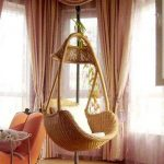 Cute Chairs That Hang From The Ceiling With Cushion In Living Room Together With Comfy Chairs And Beautiful Window Curtain Decoration In Living Room