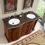 Fantastic Cool Nice Amazing Adorable Silkroad Exclusive 55 Inch Double Sink Vanity For Traditional Classic Bathroom