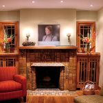 fantastic-traditional-classic-craftman-fireplace-with-simple-tiny-concept-and-has-nice-phot-decoration-in-small-living-room