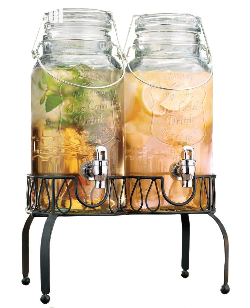 Cheer Up Your Party with a Classy Glass Beverage Dispenser ...