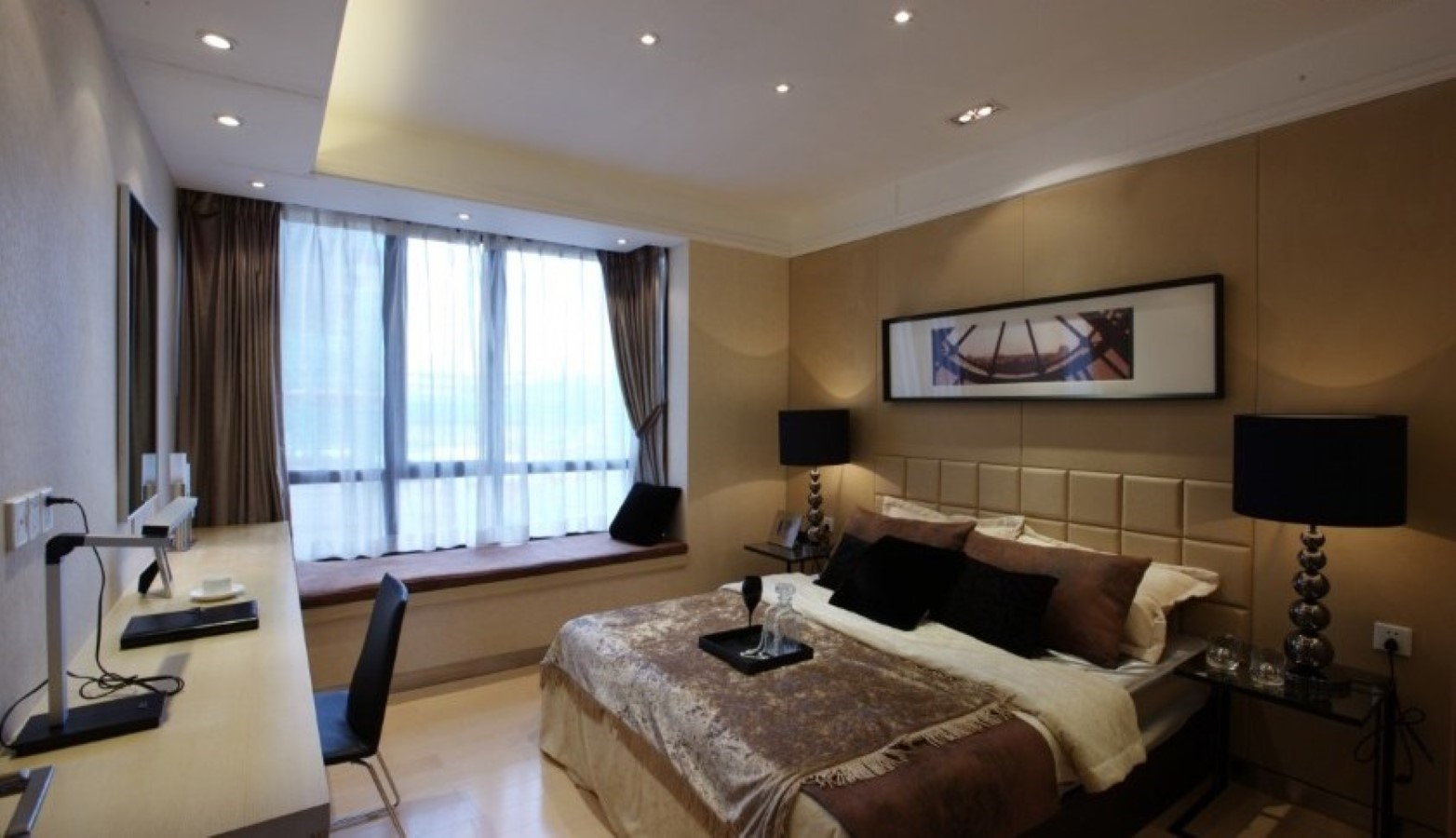 Bedroom Ideas How To Decorate A Large Bedroom Photos: How To Decorate Your Large Bay Window With Low Budget