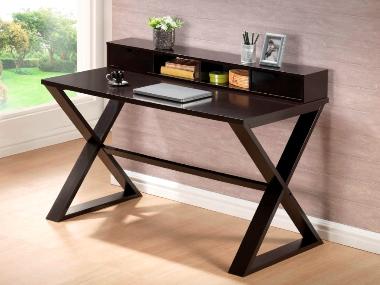 Choose slim computer desk if you deserve to have spacious for Modern style computer desk