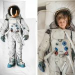 great fun bed sheet design with kids astronout pattern for wonderful sleeping time wrapped in white tone