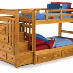 loft double beds combo furniture with built in stairs made from wood