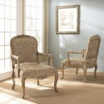 luxurious classic chairs in white washed tone color
