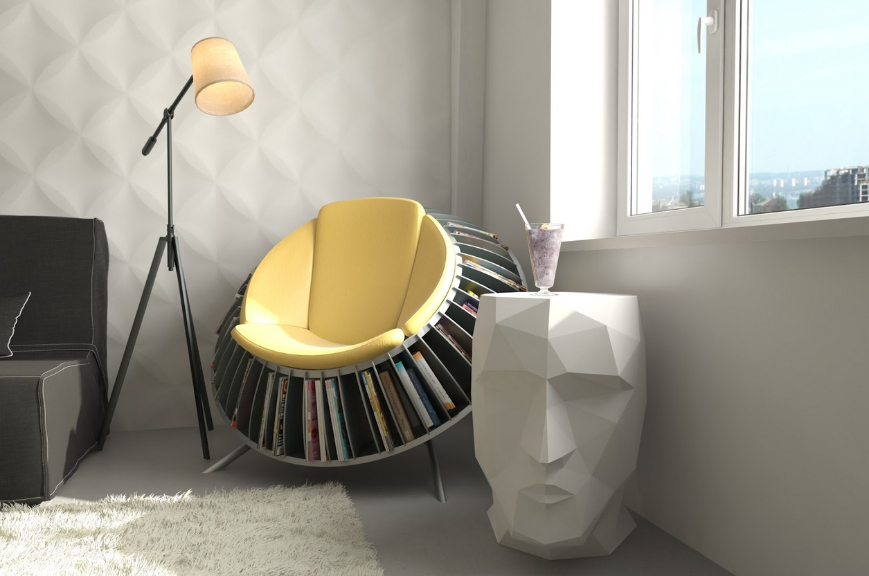 Magnificent Comfortable Chairs For Reading With Book Rack Underneath Combined Cool Table And Standing Lamp