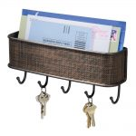 mail rack key holders for wall with wall mounted and key hook