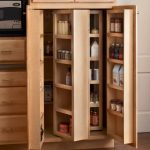 mesmerizing wooden ikea pull out pantry with tree door and shelves for kitchen furniture plus wooden floor