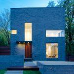 minimalist zero energy home idea with wide glass windows and door