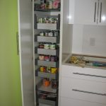 modern ikea pull out pantry with door in white for food ingredient storage plus white kitchen cabinets