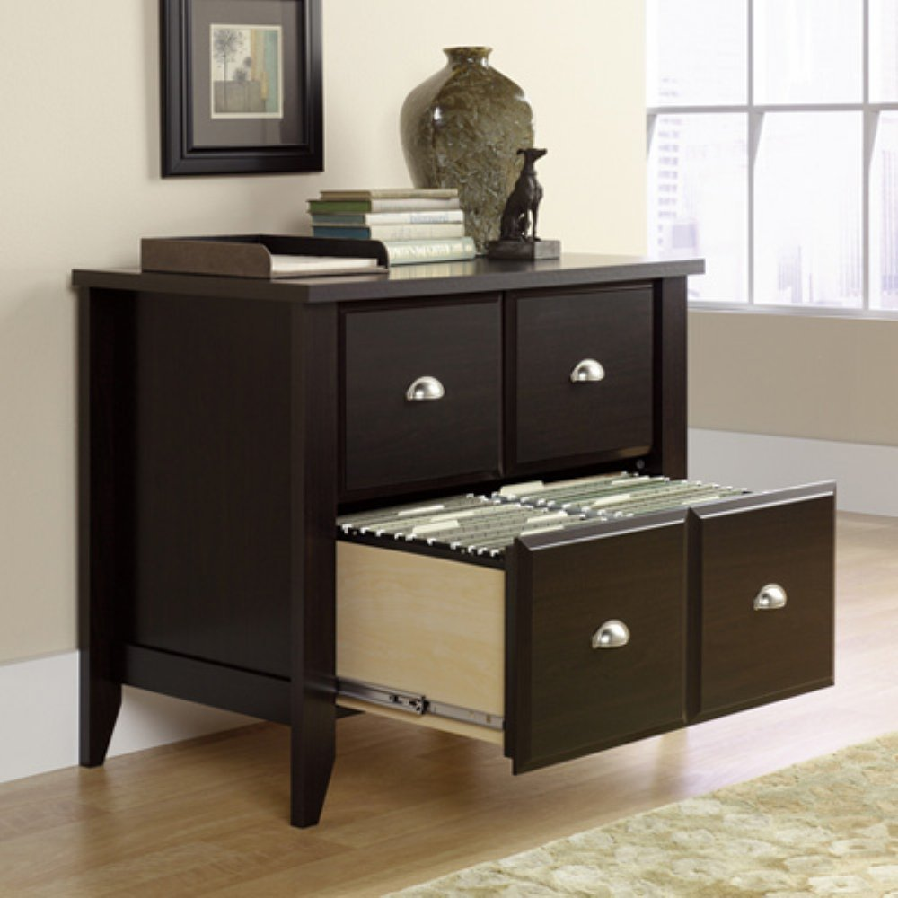 2 Drawer Wood Lateral File Cabinet With Lock Bar