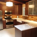 mosaic tiles kitchen backsplash from ikea with drum lighting design above white cabinet countertop