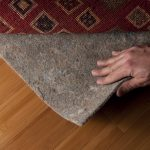 narural best rug pad for hardwood floors from natural rubber with marron modern rug