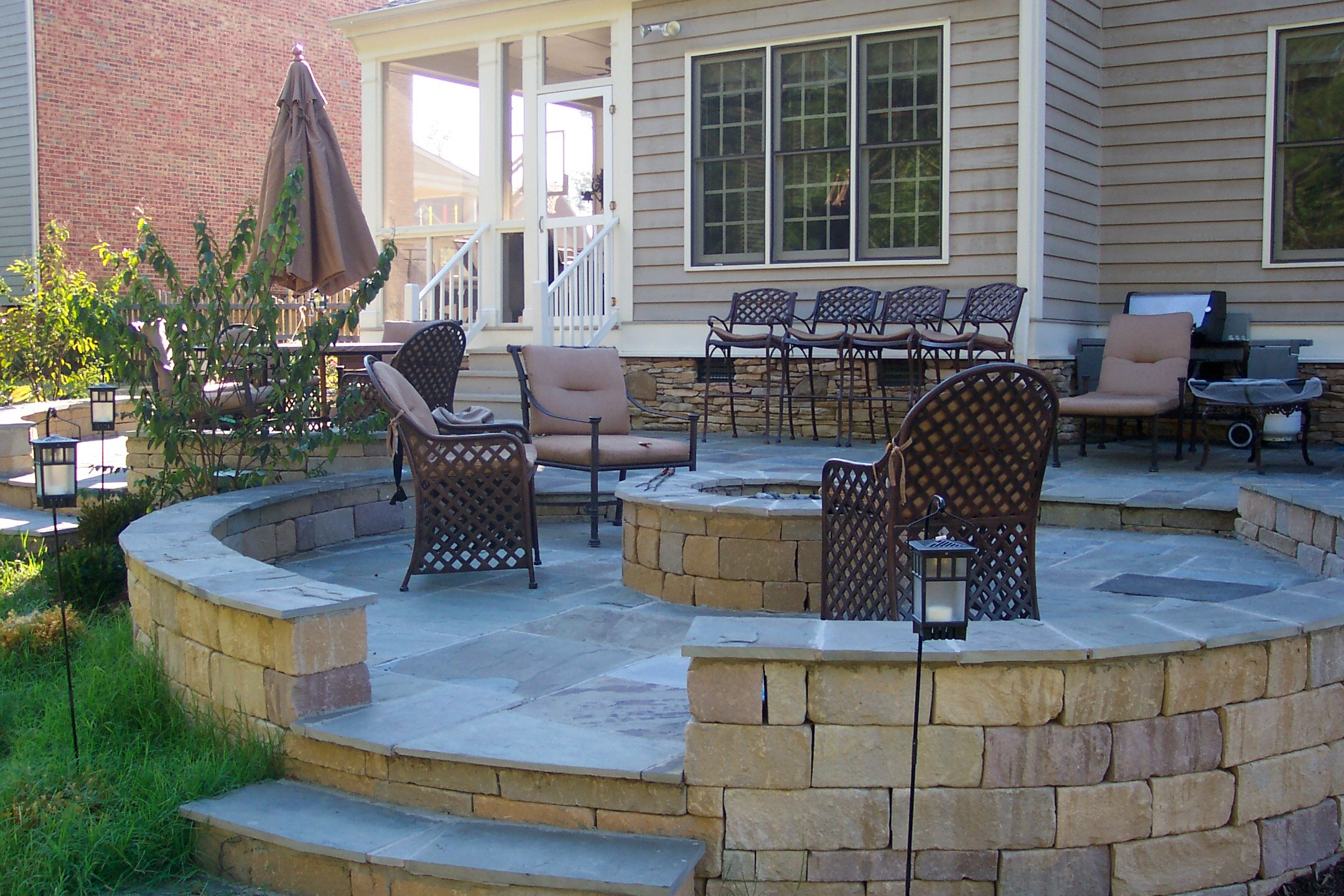 Patio with Fire Pit Shares Beautiful Awe with Personality ... on Backyard Patio Designs With Fire Pit id=46260