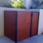 pool pump screen pool equipment enclosures with wooden fence and white wall plus granite flooring