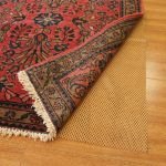 rubber rug best rug pad for hardwood floors and laminate floor with pretty red rug