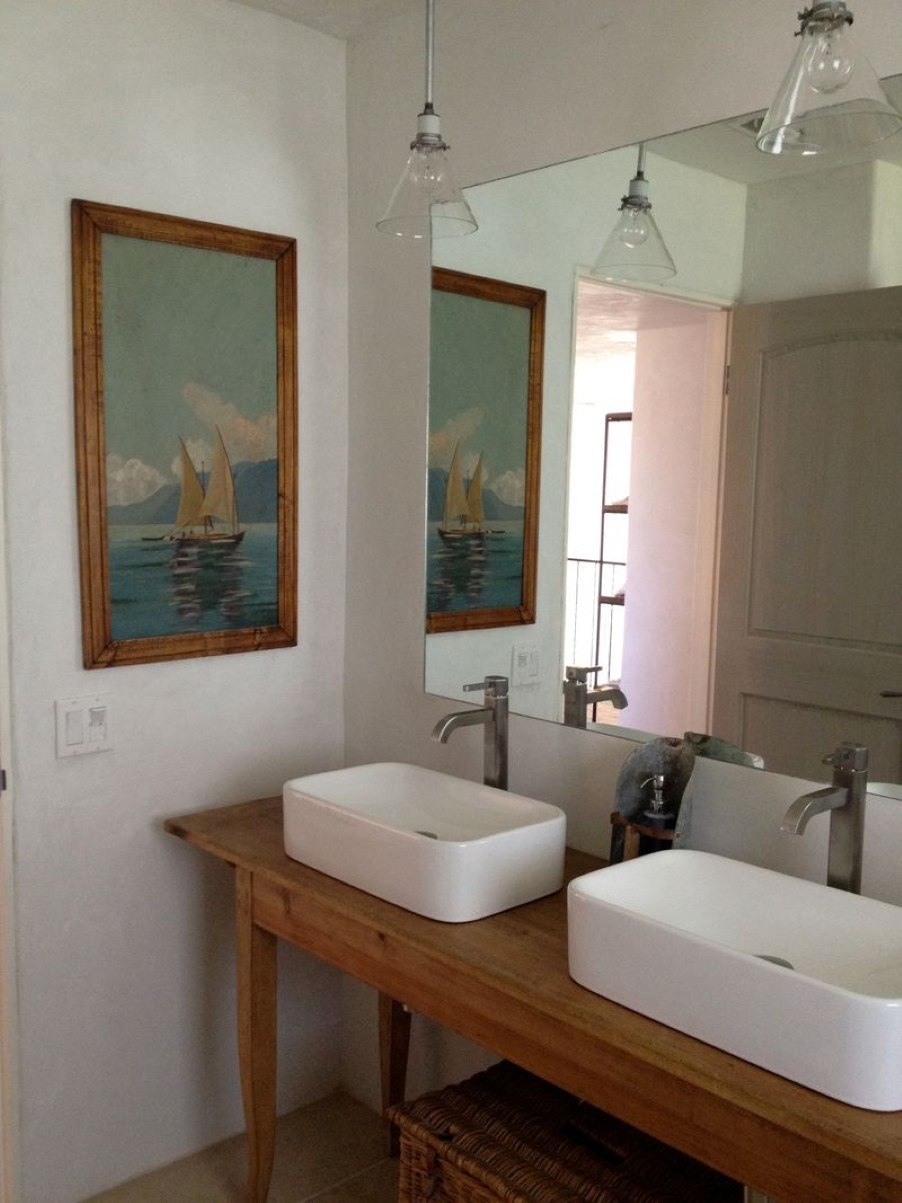 Bathroom Vanity Extended Over Toilet: Mid Century Modern Vanity Upgrades Every Bathroom With