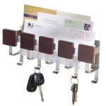 steel key holders for wall with rack for mail organizer and key hooks
