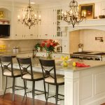 stunning large kitchen islands with seating and storage with comfy stylish chairs and granite countertop plus wooden cabinets and chandelier