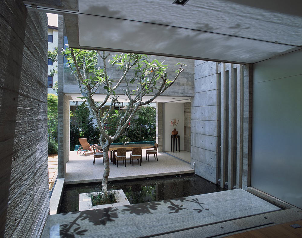 Stunning Terrace Decoration Idea With Canopy And Stone Wall Design Plant Waterfeature Aside Seating