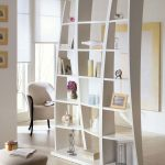 Stylish Room Separator Ikea With Bookcase And Frame Plus Vase Combined With Comfy Chairs And Sofa Stool Plus Rug And Wooden Floor