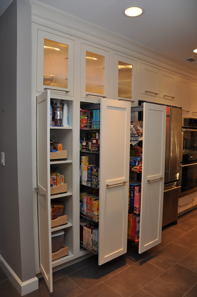 three doors ikea pull out pantry with wooden pull out doors and regular  door plus awesome
