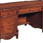 traditional office desk with solid wood desk tops combined with drawers underneath and brown finishing for home furniture ideas