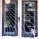 unique and attractive screen door with blinds