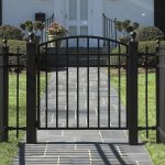 walking iron gate in black