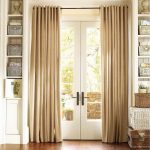 window covering for sliding glass door with alluring brown curtain plus wooden shelves and pretty basket plus hardwood floor