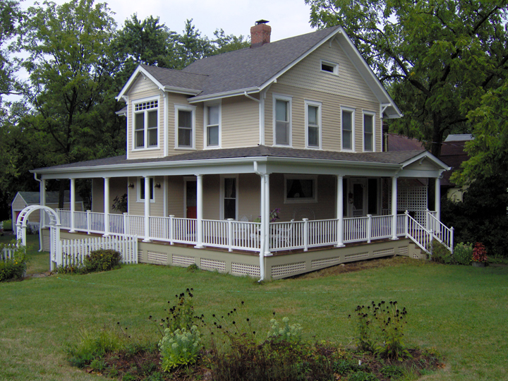Country Home Design With Wraparound Porch
